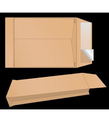 Конверт С4 1шт крафт с отрывной лентой с расширением