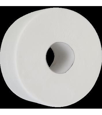 Папір туалетний двошаровий целюлозний Джамбо 130м на гільзі, Buroclean