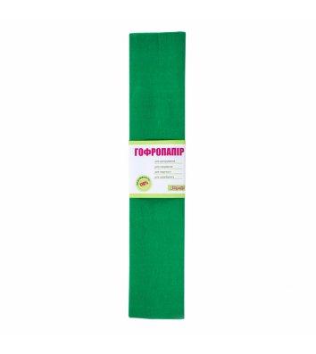 Папір гофрований зелений 50*200см