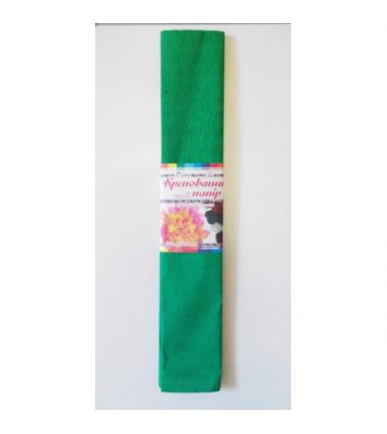 Бумага гофрированная зеленая 50*200см 26г/м2