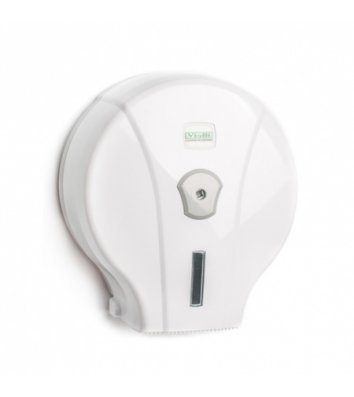 Держатель для туалетной бумаги Джамбо пластиковый белый Solaris