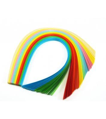 Папір для квілінгу 7*420мм 120 смужок  12 кольорів