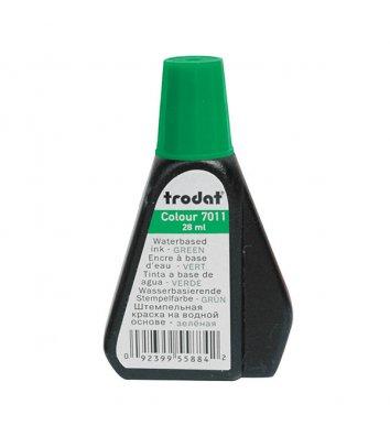 Краска штемпельная 28мл зеленая, Trodat