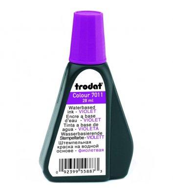 Краска штемпельная 28мл фиолетовая, Trodat