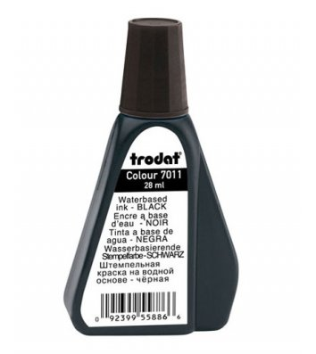 Краска штемпельная 28мл черная, Trodat