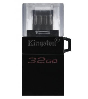 Флеш-пам'ять 32GB Kingston Drive DT Microduo, корпус чорний