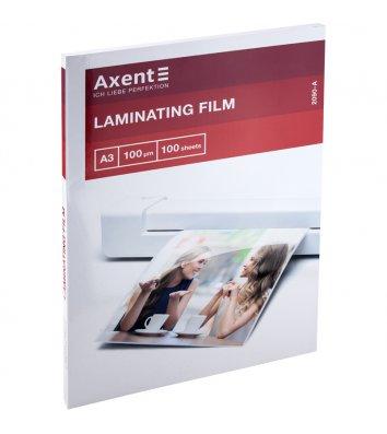 Плівка для ламінування А3 100мкм 100шт глянцева, Axent