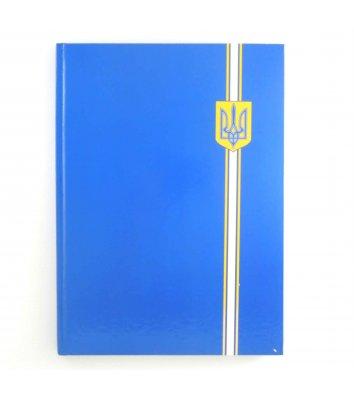 """Книга канцелярська А4 96арк лінія """"Герб"""" тверда обкладинка, Optima"""