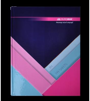 Книга канцелярська А4 144арк клітинка тверда обкладинка Modest, Buromax