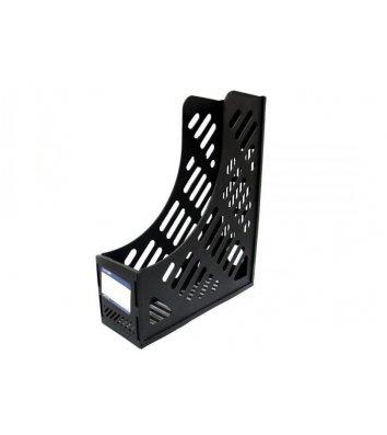 Лоток вертикальный сборный на 1 отделение пластиковый черный, Economix
