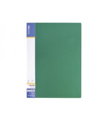 Папка А4 пластикова з затиском Clip В Light зелена, Economix