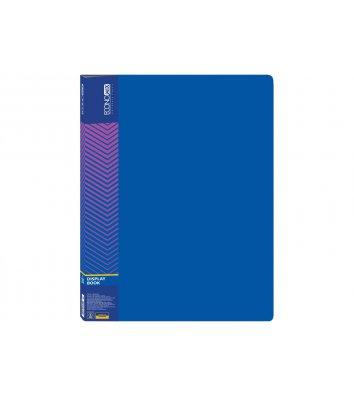 Папка А4 пластикова з 20 файлами синя, Economix