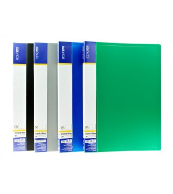 Папка А4 пластикова з 30 файлами асорті, Economix