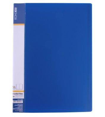 Папка А4 пластикова з 30 файлами синя, Economix