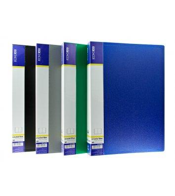 Папка А4 пластикова з 60 файлами асорті, Economix