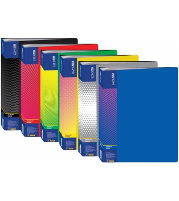 Папка А4 пластиковая с 80 файлами ассорти, Economix