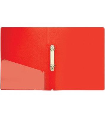 Папка А4 пластикова на 2 кільця 30мм червона, Economix