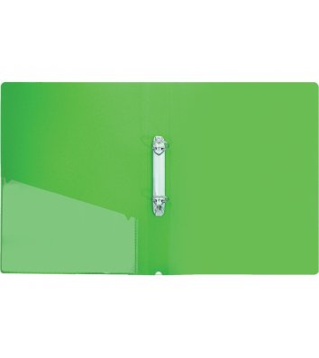 Папка А4 пластикова на 2 кільця 30мм зелена, Economix