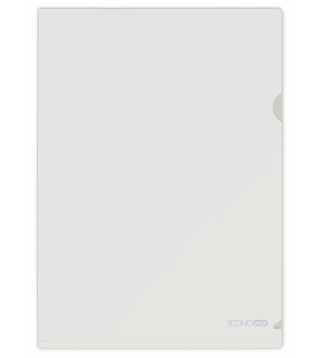 Папка-уголок А4 пластиковая прозрачная, Economix