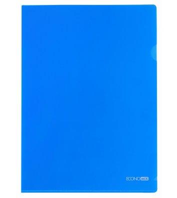 Папка-уголок А4 пластиковая синяя, Economix