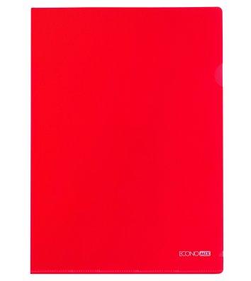 Папка-уголок А4 пластиковая красная, Economix