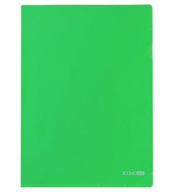 Папка-уголок А4 пластиковая зеленая, Economix