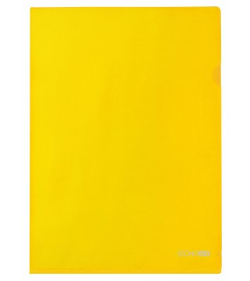 Папка-уголок А4 пластиковая желтая, Economix