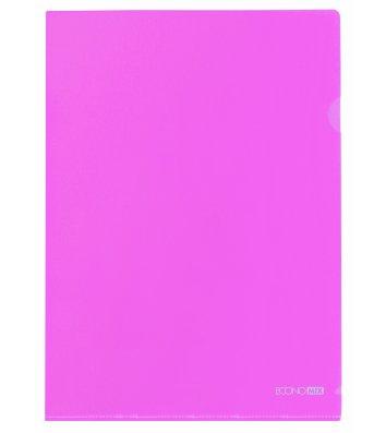 Папка-уголок А4 пластиковая розовая, Economix