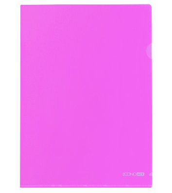 Папка-куточок А4 пластикова рожева, Economix