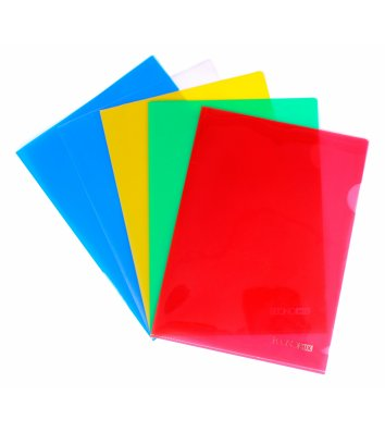 Папка-куточок А5 пластикова асорті, Economix