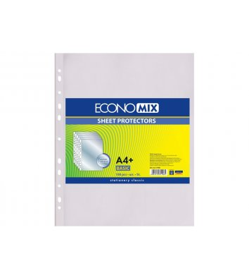 Файли А4+ 30мкм 100шт глянцеві, Economix