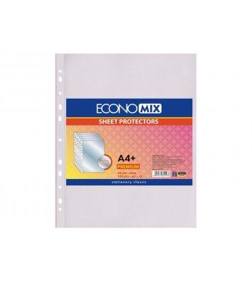Файлы А4+ 40мкм 100шт глянцевые, Economix