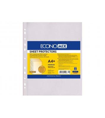 Файлы А4+ 40мкм 100шт матовые, Economix