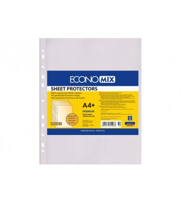 Файли А4+ 40мкм 100шт матові, Economix