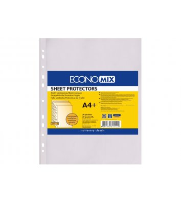 Файли А4+ 30мкм 20шт матові, Economix