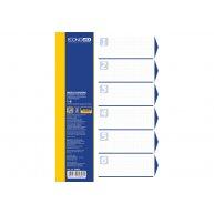 Розділювачі аркушів А4 6 розділів пластикові кольорові, Economix