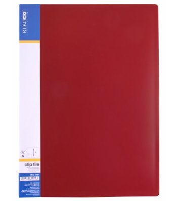 Папка-скоросшиватель А4 пластиковая Clip A красная, Economix