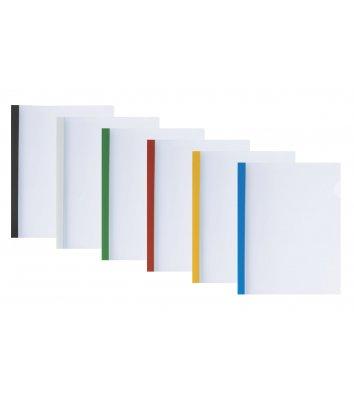 Папка А4 пластикова з планкою-притиском 2-35арк асорті, Economix
