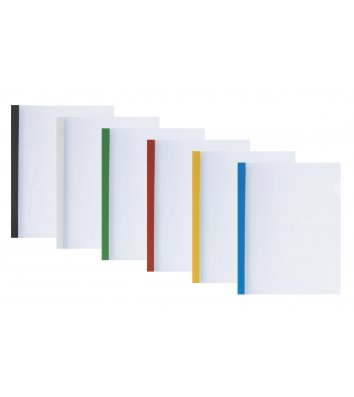 Папка А4 пластикова з планкою-притиском 2-65арк асорті, Economix