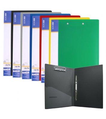 Папка-швидкозшивач А4 пластикова з планшетом Clip А+С асорті, Economix