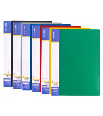 Папка-скоросшиватель А4 пластиковая Clip A Light ассорти, Economix