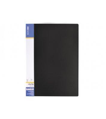 Папка А4 пластикова з затиском Clip В Light чорна, Economix