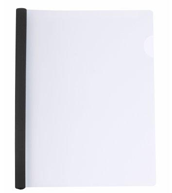 Папка А4 пластиковая с планкой-зажимом 2-95арк черная, Economix