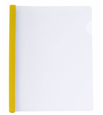 Папка А4 пластиковая с планкой-зажимом 2-95арк желтая, Economix