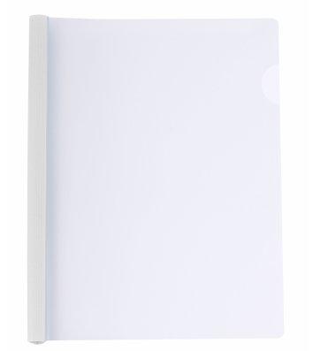 Папка А4 пластиковая с планкой-зажимом 2-95арк белая, Economix