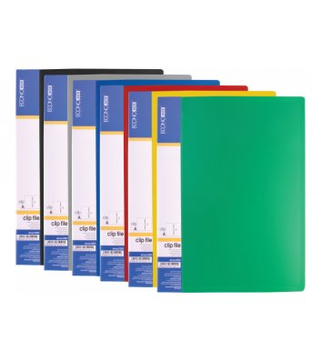 Папка-швидкозшивач А5 пластикова Clip A асорті, Economix