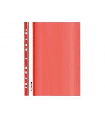 Папка-швидкозшивач А5 з перфорацією, фактура глянець червона, Economix