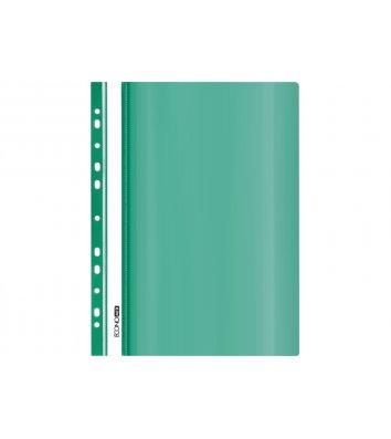 Папка-швидкозшивач А5 з перфорацією, фактура глянець зелена, Economix