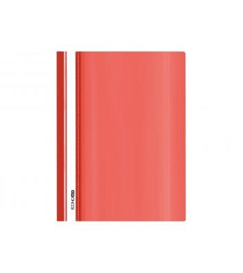 Папка-швидкозшивач А5 без перфорації, фактура глянець червона, Economix