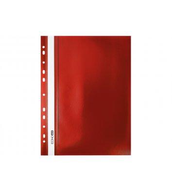 Папка-скоросшиватель А4 с перфорацией, фактура апельсин красная, Economix